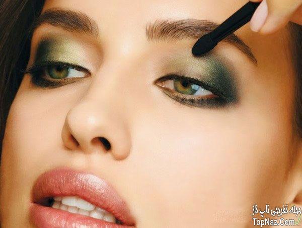 مدل آرایش به سبک ایرینا شایک نامزد رونالدو