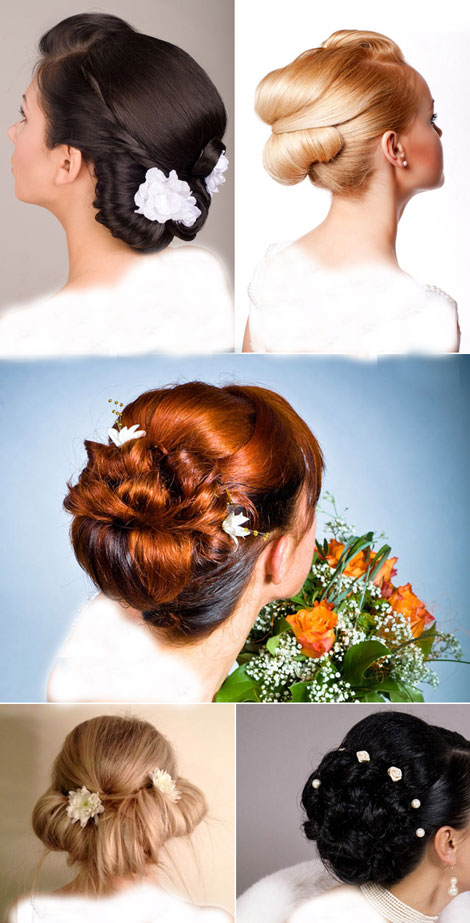 مدل آرایش عروس و مدل شنیون موی عروس