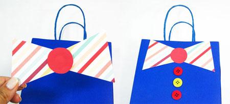 تزیین هدایای روز پدر,آموزش ساخت کیف های هدیه