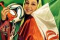 عکس بهنوش بختیاری و لاله اسکندری با پرچم ایران