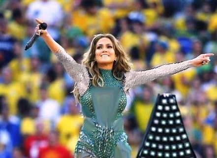 عکس های جنیفر لوپز در مراسم جام جهانی