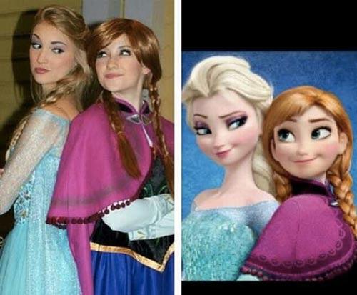 این دو دختر شبیه به عروسک شدند