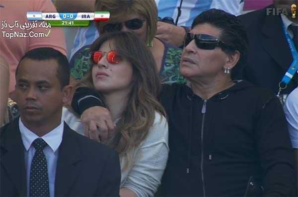 مارادونا و دخترش