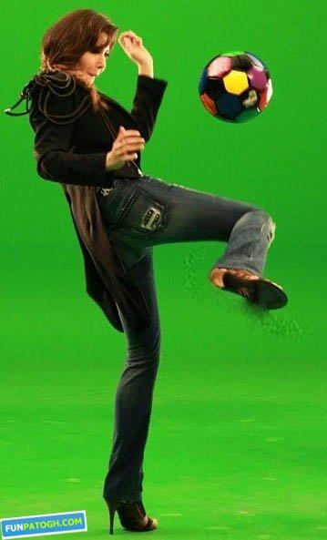 عکس نانسی عجرم در حال روپایی زدن!