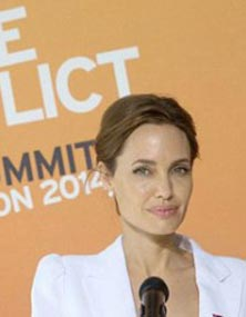 سخنرانی آنجلینا جولی علیه تجاوزات جنسی