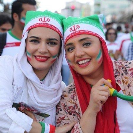عکس بازیگران زن ایرانی در استادیوم