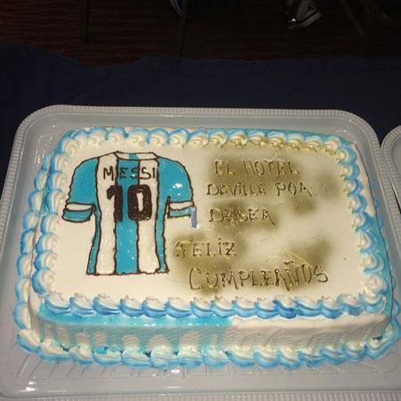 عکس کیک تولد لیونل مسی