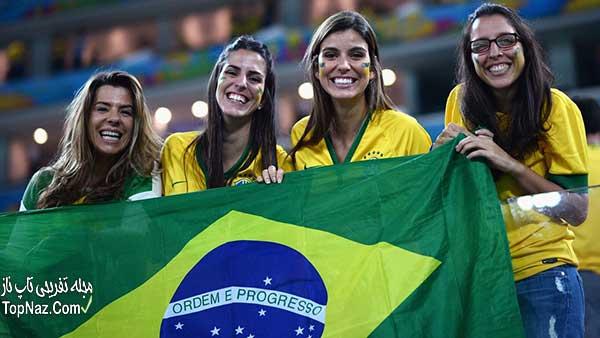 عکس های جالب از زنان تماشاگر جام جهانی 2014