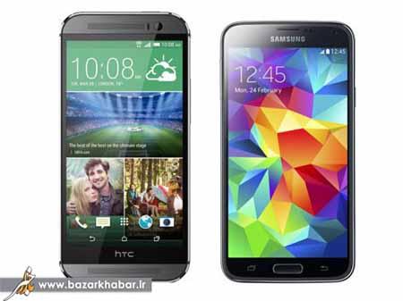 اچ تی سی HTC One M8 یا سامسونگ Galaxy S5 کدامیک؟