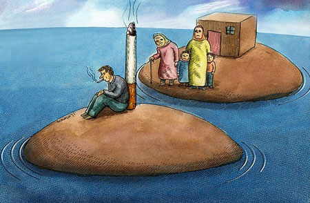 طلاق, کاریکاتور طلاق و اعتیاد, جشن طلاق