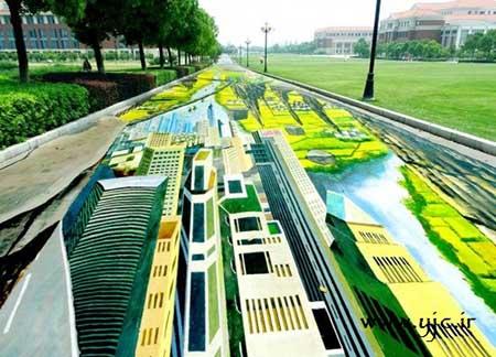 نقاشی های 3 بعدی بسیار زیبا در خیابان