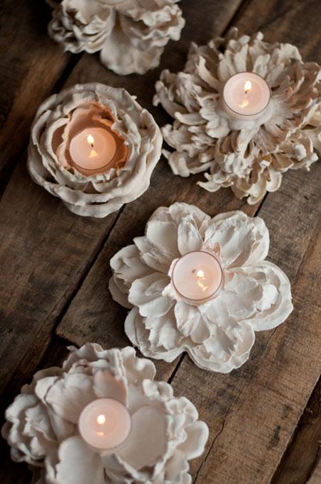 آموزش ساختن جاشمعی با گل مصنوعی