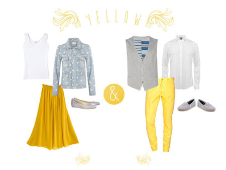 نحوه انتخاب لباس رنگ زرد