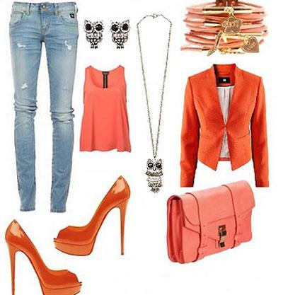 نحوه انتخاب رنگ لباس نارنجی