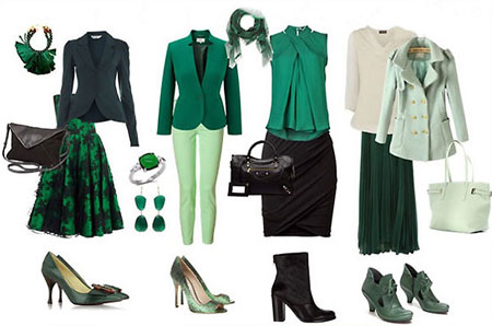 نحوه انتخاب لباس سبز
