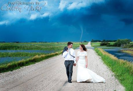 جالب ترین عکس از عروس و داماد