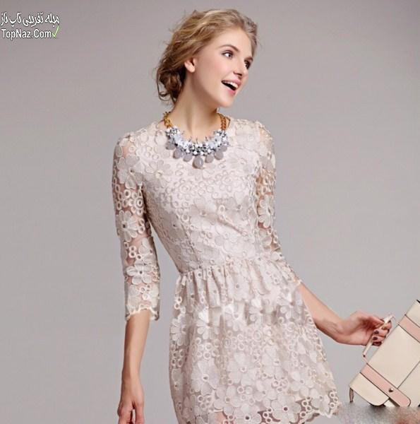 مدل لباس مجلسی دانتل