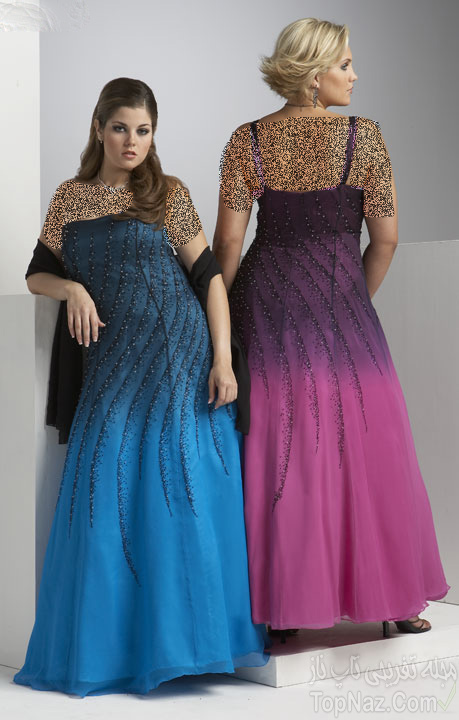مدل لباس مجلسی مخصوص خانم های چاق