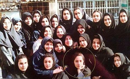 عکس دوران دبیرستان مهناز افشار