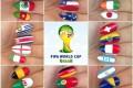 تزیین و طراحی ناخن به سبک جام جهانی