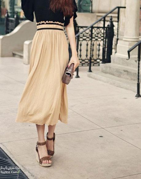 مدل دامن بلند شیک و زیبا