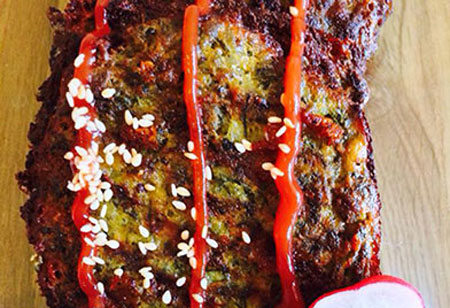 کوکو سبزی و گوشت