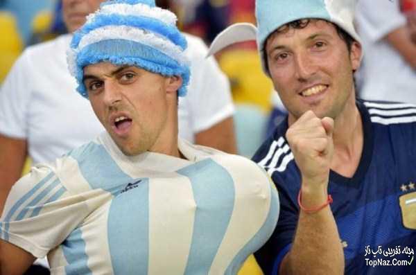 عکس های دیدنی و خنده دار از تماشاچیان جام جهانی