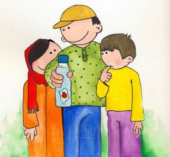 معمای بطری آب و سس کچاپ