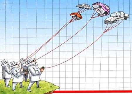 کاریکاتور و تصاویر طنز , گرانی خودرو