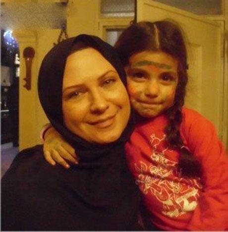 عکس لعیا زنگنه و دخترش