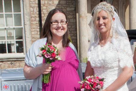 زایمان خواهر عروس و ساقدوش عروس در مراسم عروسی!