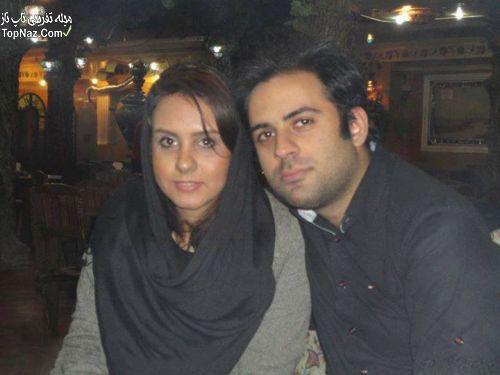 المیرا عبدی دختر اکبر عبدی در کنار همسرش