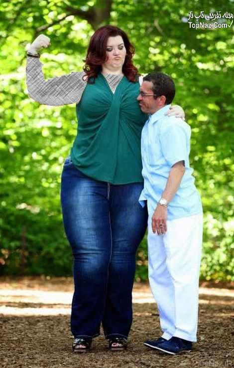 زن, زن هیکلی, زن چاق, زن قد بلند