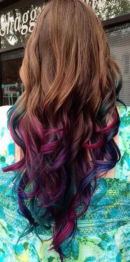 رنگ مو فانتزی رنگین کمانی