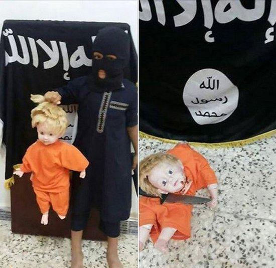 تفریح وحشتناک کودک داعشی! +عکس
