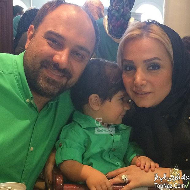 برزو ارجمند و همسر و فرزندش