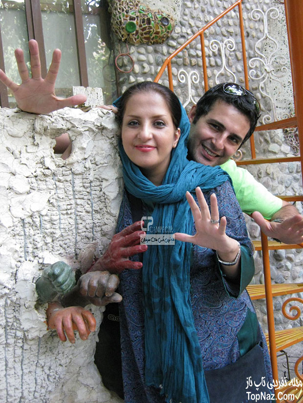 بهنام قربانی و همسرش