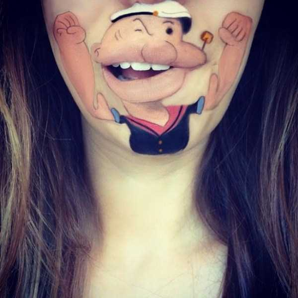Laura Jenkinson lip makeup art 12 The Most Creative Lip Art Youve Ever Seen (28 photos)