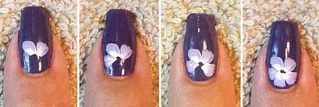 آموزش طراحی گل روی ناخن
