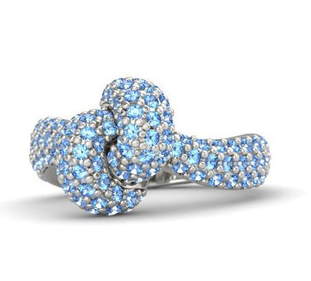 مدل انگشتر آبی رنگ