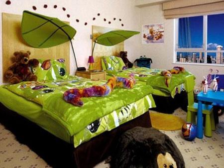 طراحی دکوراسیون اتاق مشترک کودک دختر و پسر