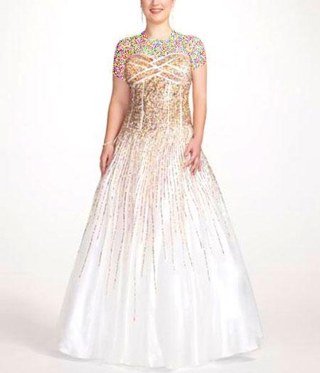 مدل لباس شب, لباس شب برای افراد چاق