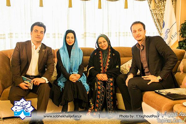 عکس های الناز حبیبی و مریم سعادت در برنامه صبح خلیج فارس