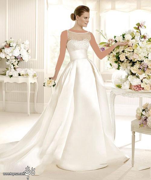 مدل لباس عروس دنبالهدار