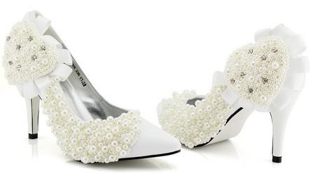 مدل کفش عروس پاشنه دار
