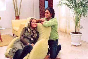محمدرضا گلزار و مهناز افشار در سریال عشق تعطیل نیست