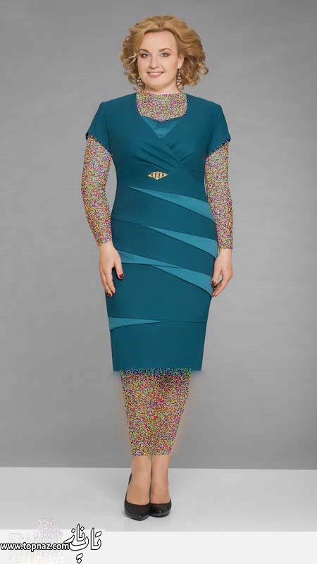 مدل لباس مجلسی زنانه سایز بزرگ