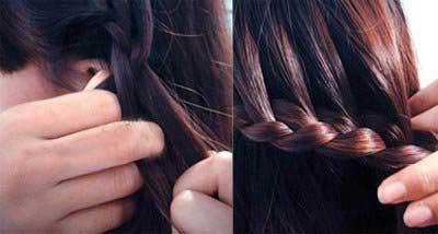 آموزش مدل موی جمع با بافت یکطرفه