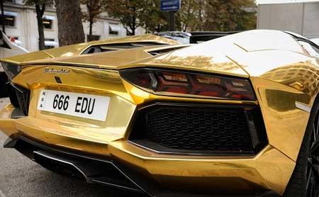 لامبورگینی اونتادور پلاک عربستان طلایی