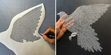مجسمه,مجسمه های کاغذی,آثار هنری